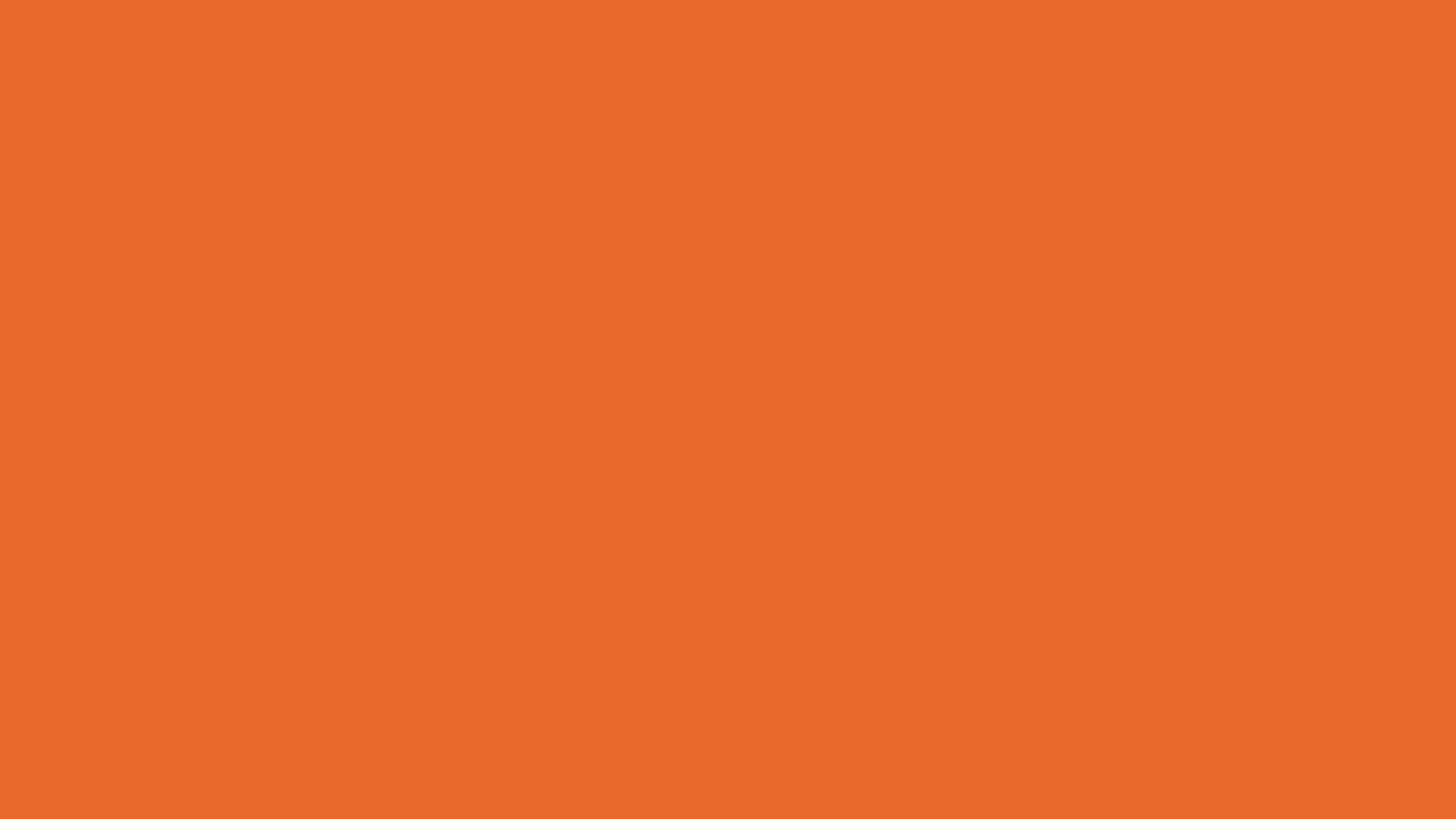 4096x2304 Deep Carrot Orange Solid Color Background