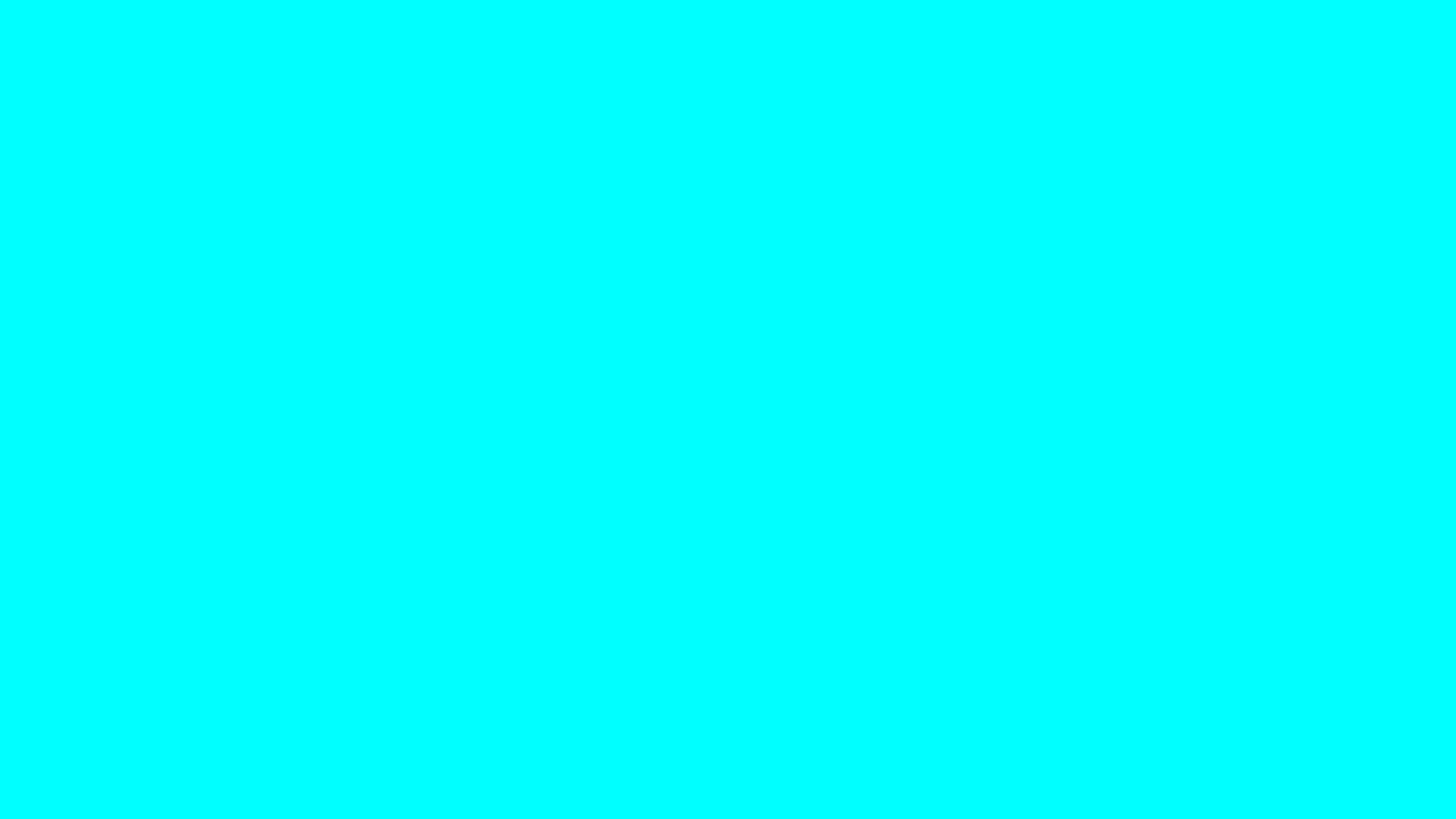 4096x2304 Electric Cyan Solid Color Background