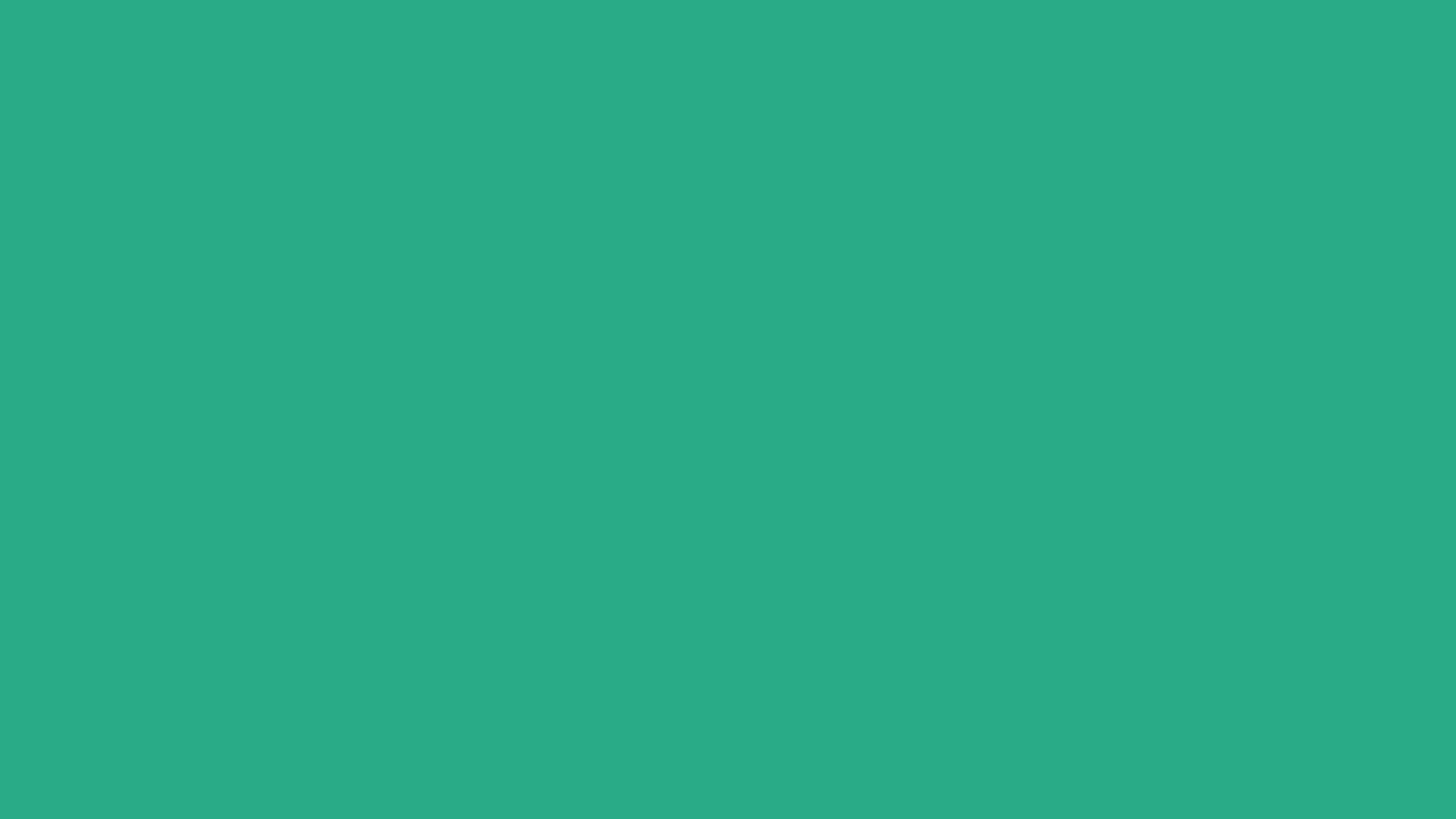 4096x2304 Jungle Green Solid Color Background