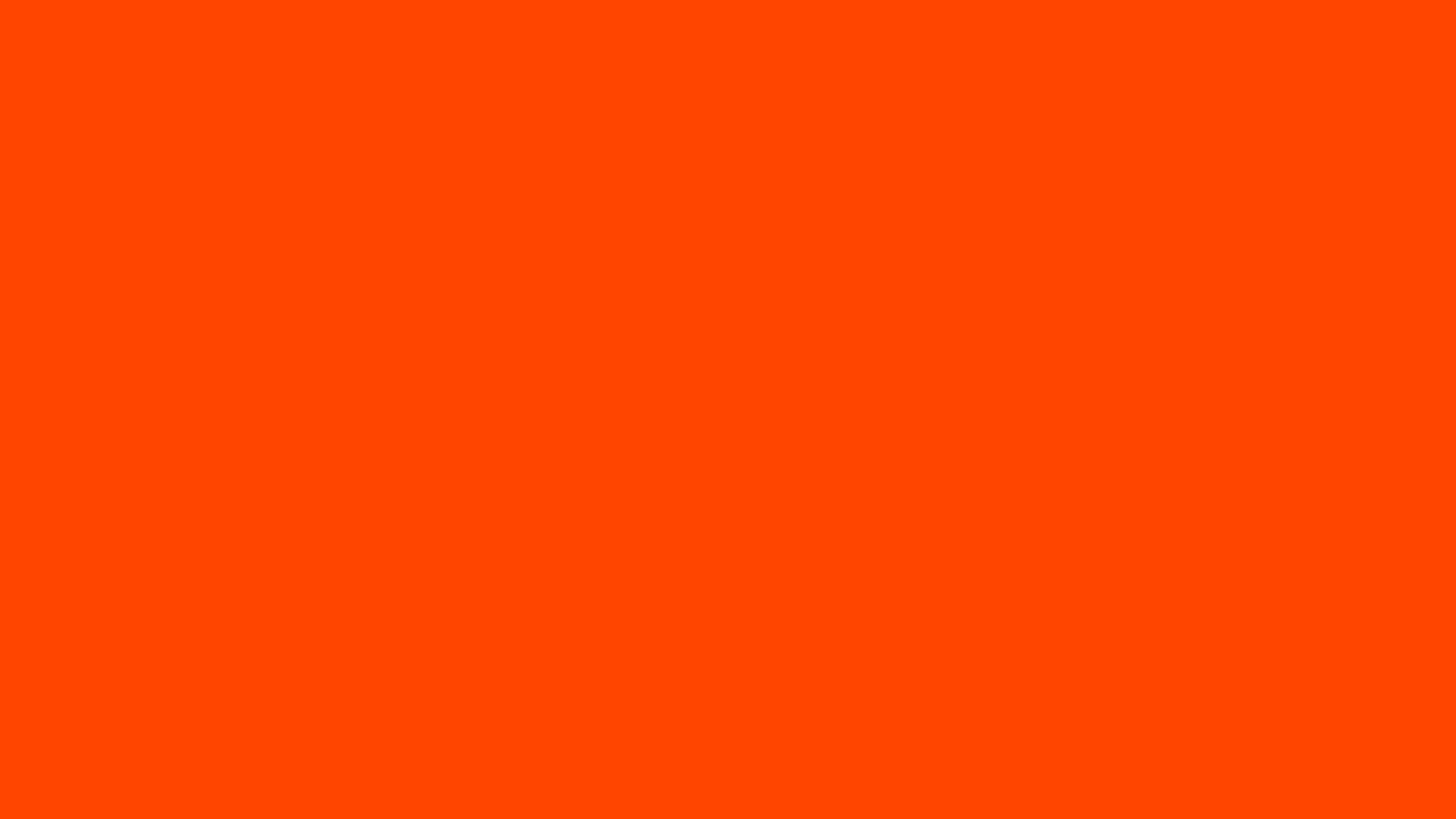 4096x2304 Orange-red Solid Color Background