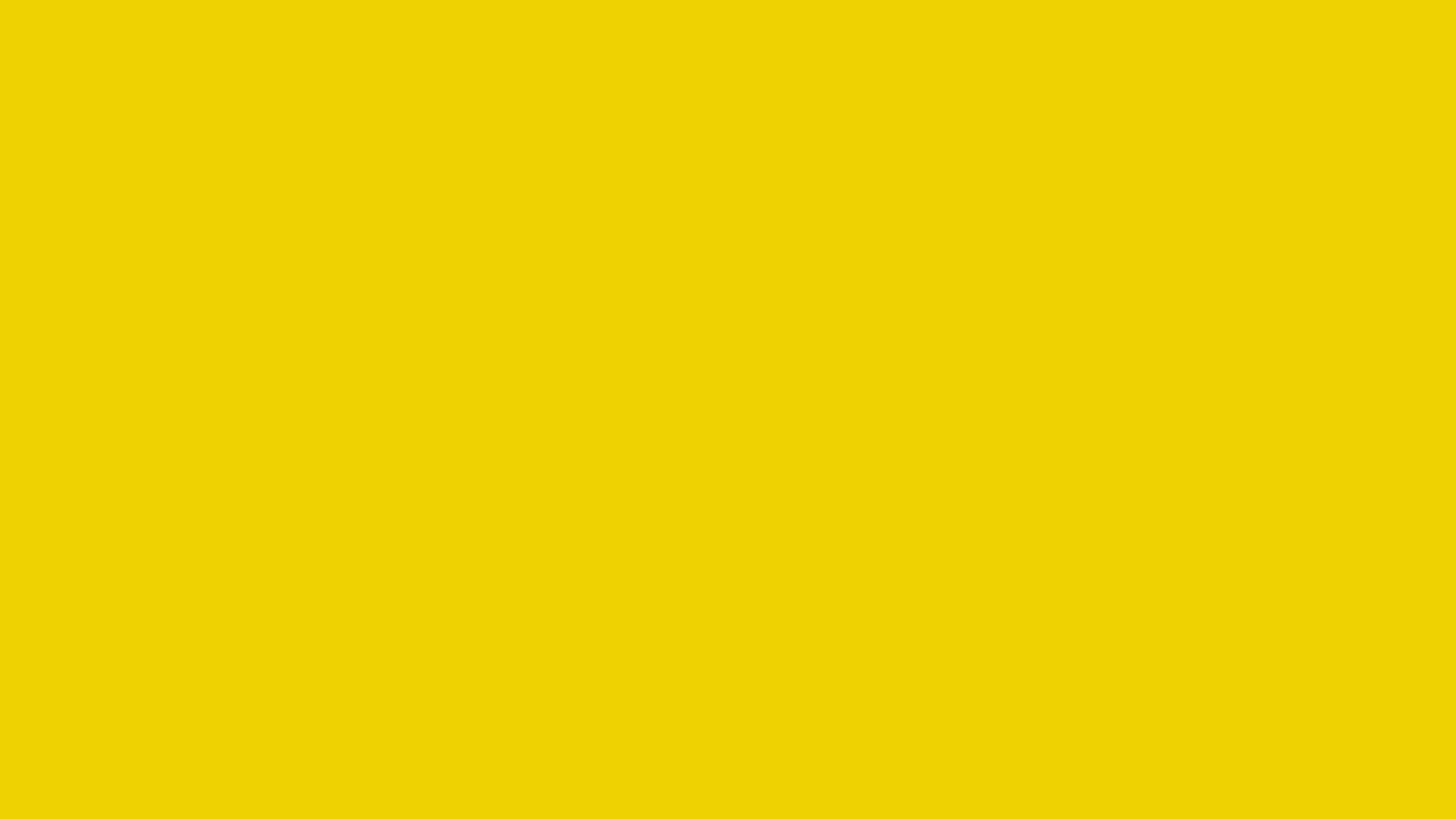 4096x2304 Safety Yellow Solid Color Background