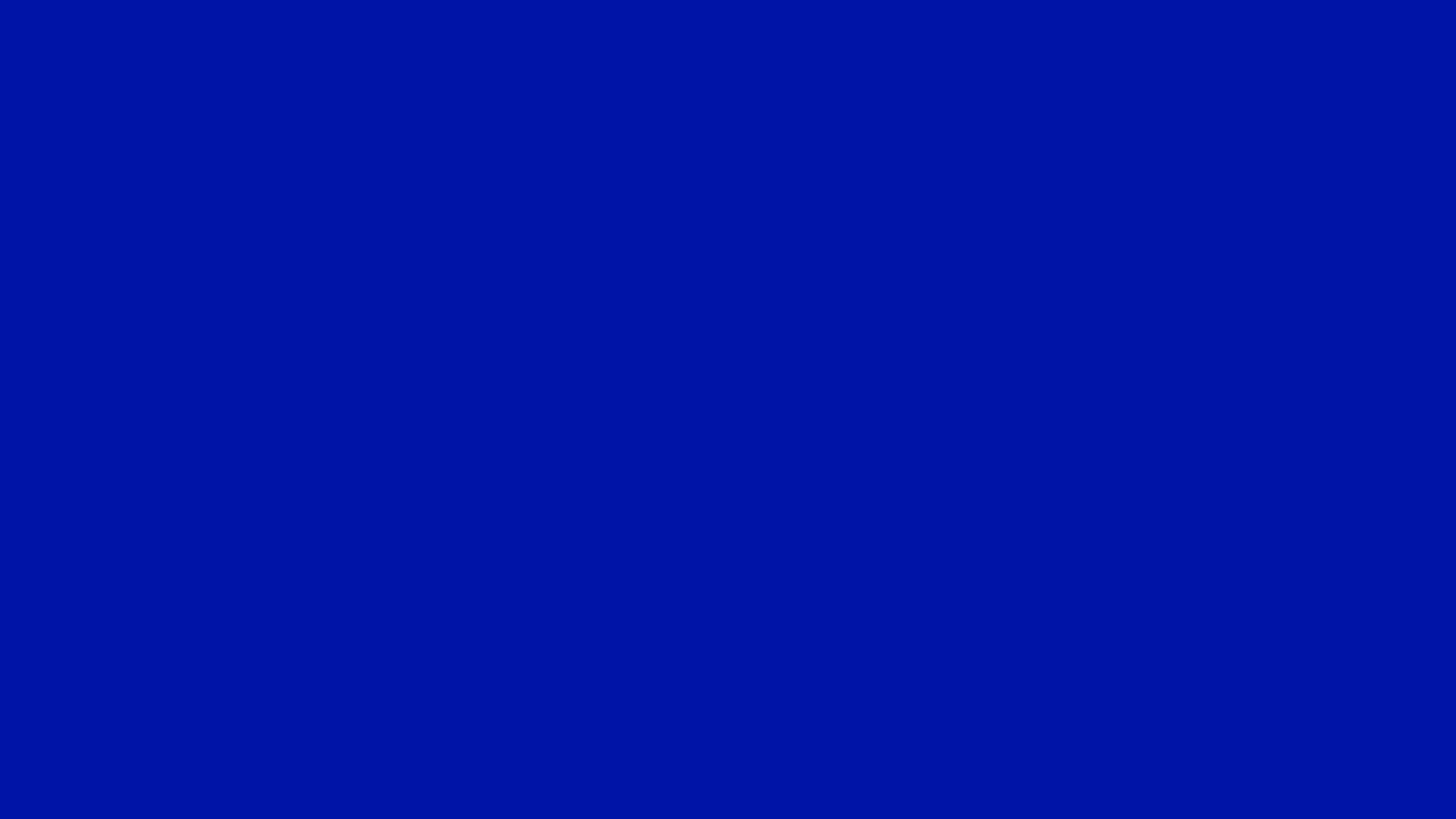 4096x2304 Zaffre Solid Color Background