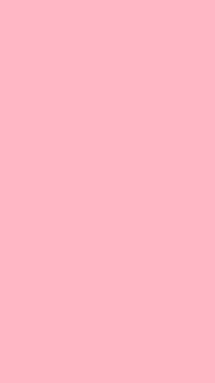 750x1334 Cherry Blossom Pink Solid Color Background