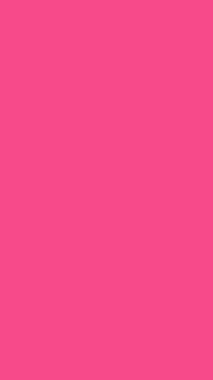 750x1334 French Rose Solid Color Background