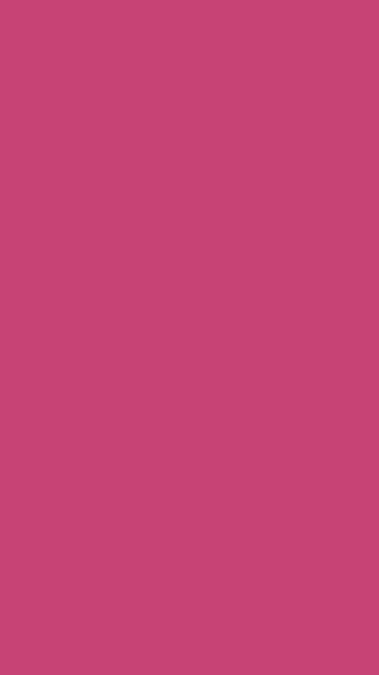 750x1334 Fuchsia Rose Solid Color Background