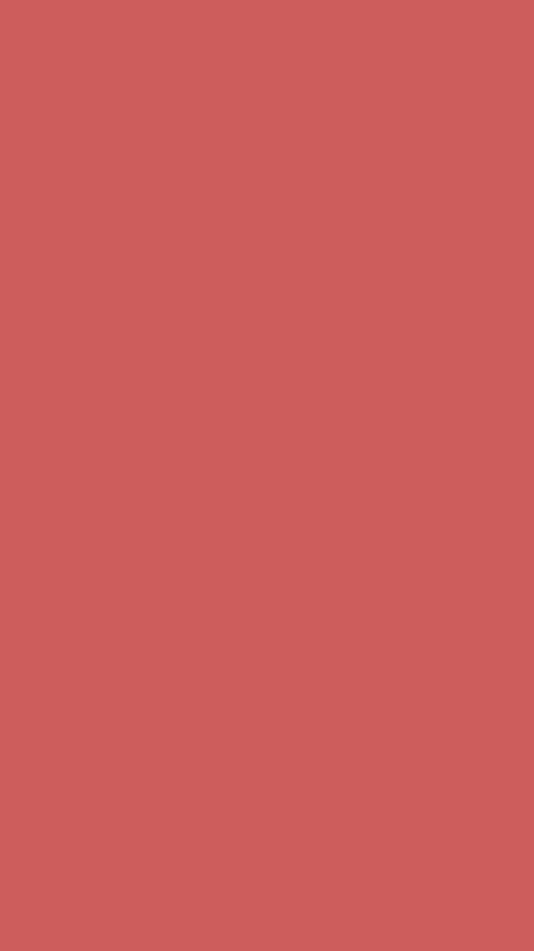 750x1334 Indian Red Solid Color Background