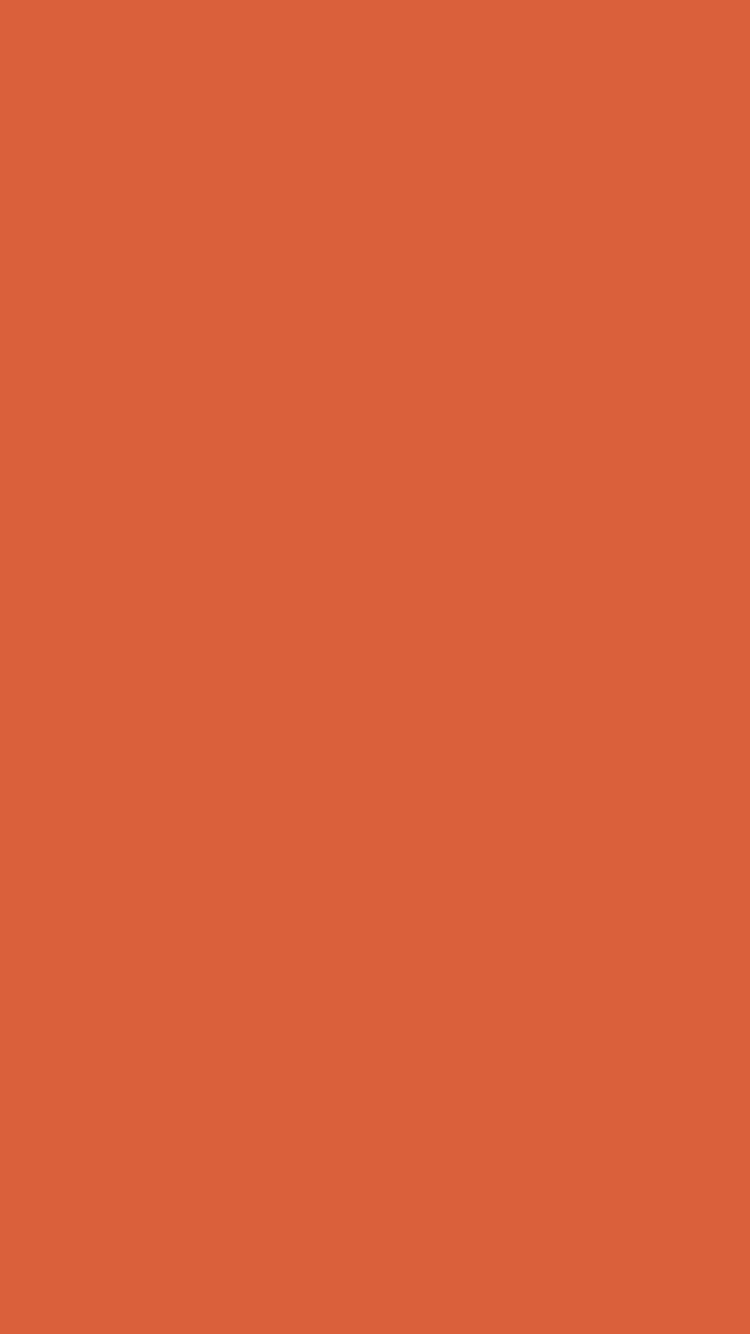 750x1334 Medium Vermilion Solid Color Background