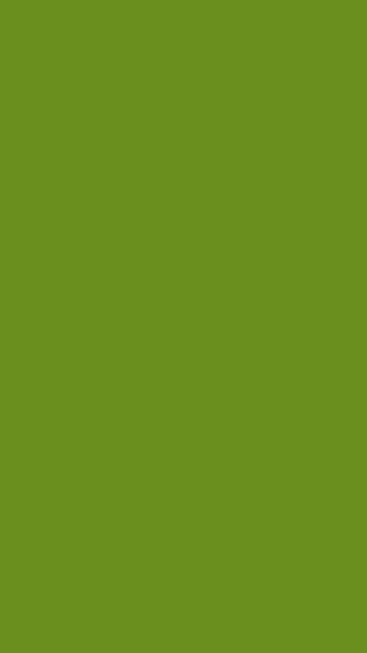 750x1334 Olive Drab Number Three Solid Color Background
