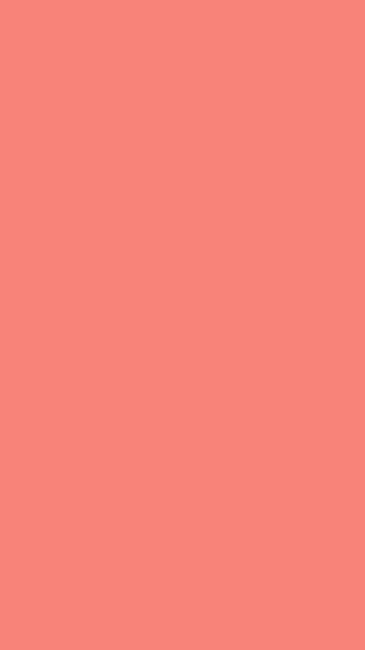 750x1334 Tea Rose Orange Solid Color Background