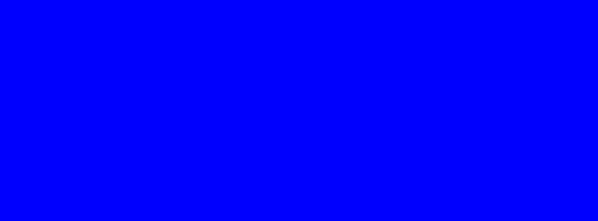 851x315 Blue Solid Color Background