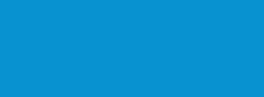 851x315 Rich Electric Blue Solid Color Background