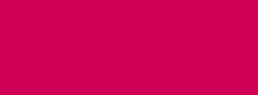 851x315 Rubine Red Solid Color Background