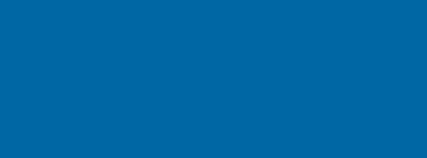 851x315 Sapphire Blue Solid Color Background