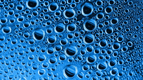 Blue Abstract Bubbles Free Website Background Image